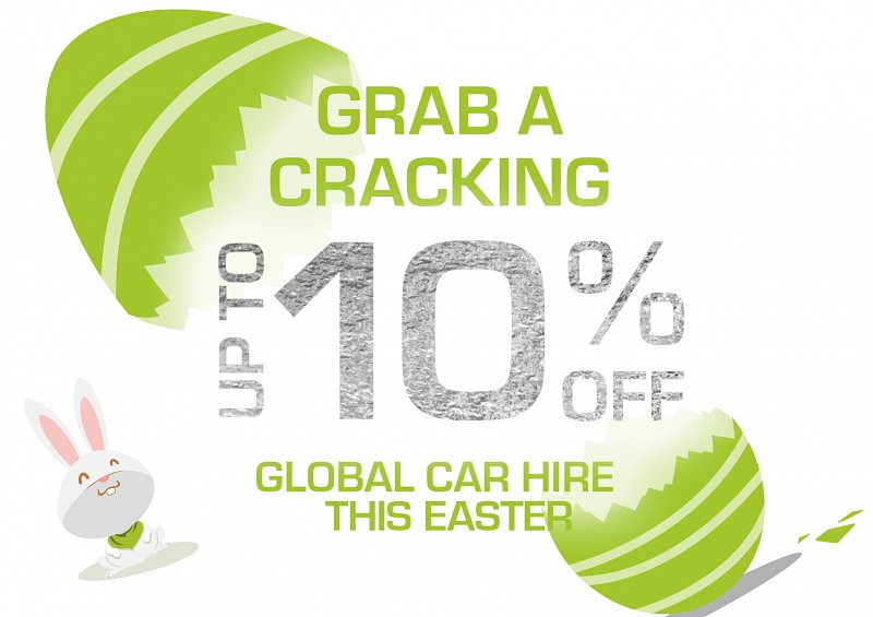 Our Easter sale has started - grab a cracking up to 10% off global car hire now!